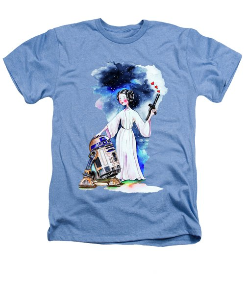 Princess Leia Illustration Heathers T-Shirt by Isabel Salvador