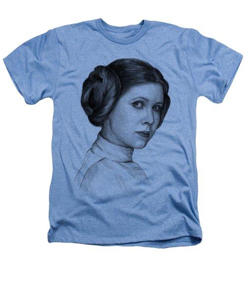 Princess Leia Watercolor Portrait Heathers T-Shirt