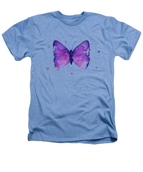 Purple Abstract Butterfly Heathers T-Shirt