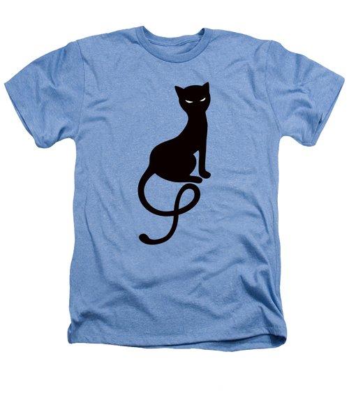 Purple Gracious Evil Black Cat Heathers T-Shirt by Boriana Giormova