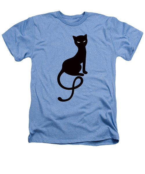 Purple Gracious Evil Black Cat Heathers T-Shirt