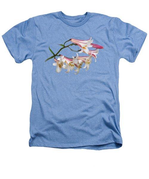 Radiant Lilies Heathers T-Shirt by Gill Billington