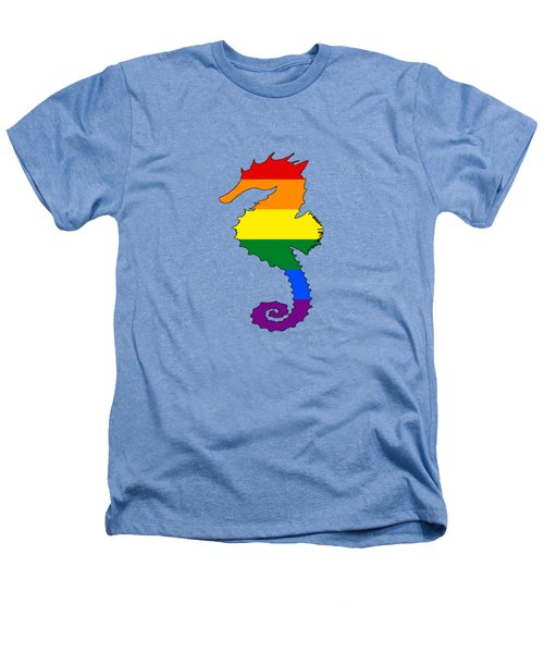 Rainbow Seahorse Heathers T-Shirt by Mordax Furittus