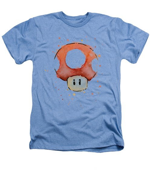 Red Mushroom Watercolor Heathers T-Shirt
