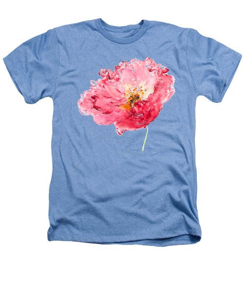 Red Poppy Painting Heathers T-Shirt by Jan Matson