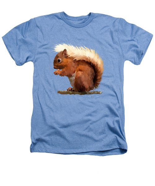 Red Squirrel Heathers T-Shirt by Bamalam  Photography