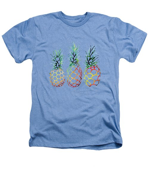 Retro Pineapples Heathers T-Shirt by Sam Nagel