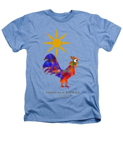 Rooster Pattern Art Heathers T-Shirt by Christina Rollo