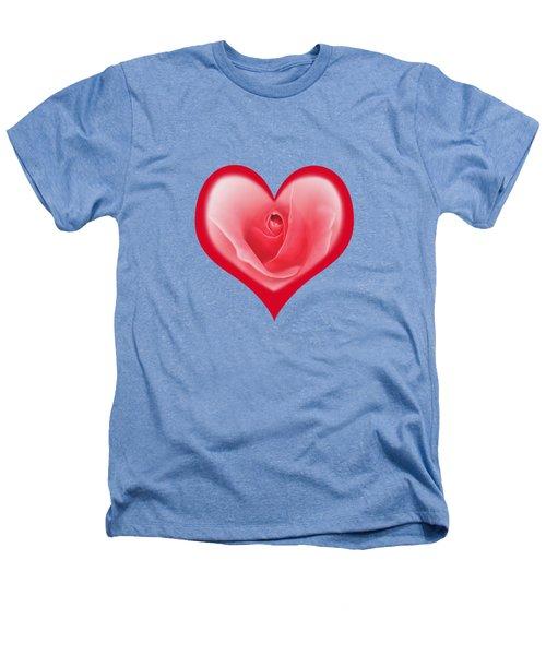 Rose Heart T-shirt And Print By Kaye Menner Heathers T-Shirt by Kaye Menner