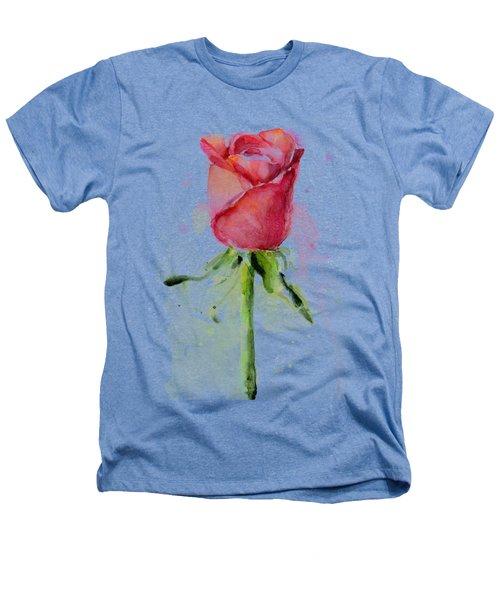 Rose Watercolor Heathers T-Shirt