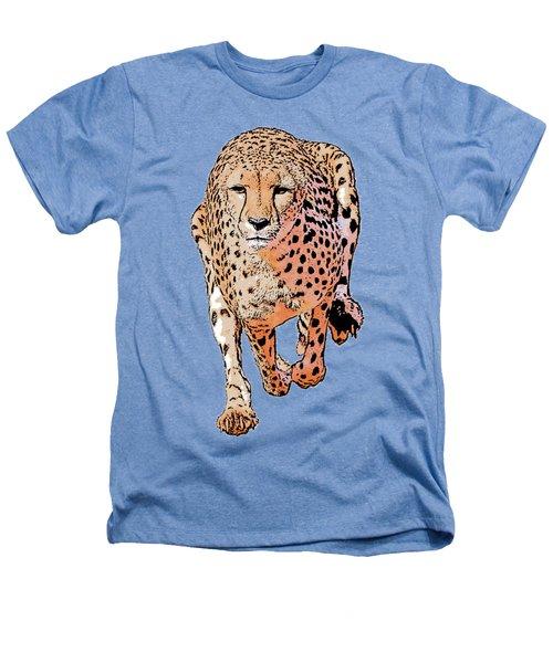 Running Cheetah Cartoonized #1 Heathers T-Shirt