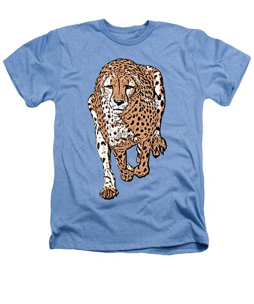 Running Cheetah Cartoonized #2 Heathers T-Shirt