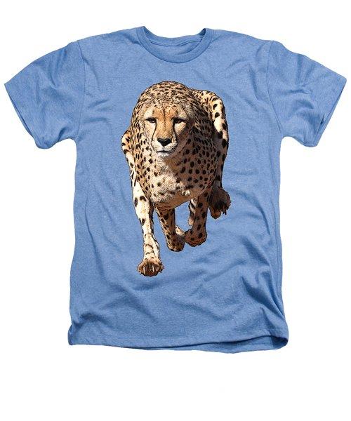 Running Cheetah Cartoonized #3 Heathers T-Shirt
