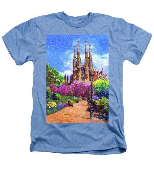 Sagrada Familia And Park Barcelona Heathers T-Shirt