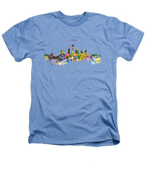 San Antonio Skyline Silhouette Heathers T-Shirt