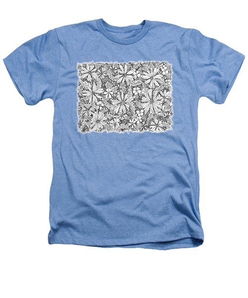 Sea Of Flowers And Seeds At Night Horizontal Heathers T-Shirt by Tamara Kulish