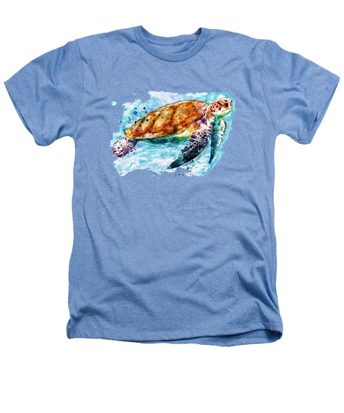 Sea Turtle  Heathers T-Shirt by Marian Voicu