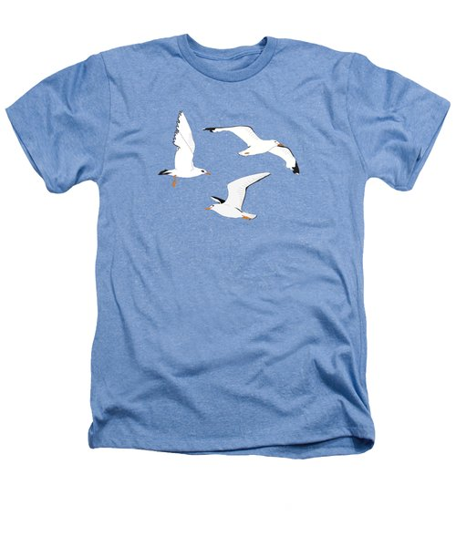 Seagulls Gathering At The Cricket Heathers T-Shirt by Elizabeth Tuck