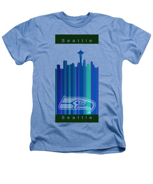 Seattle Sehawks Skyline Heathers T-Shirt by Alberto RuiZ
