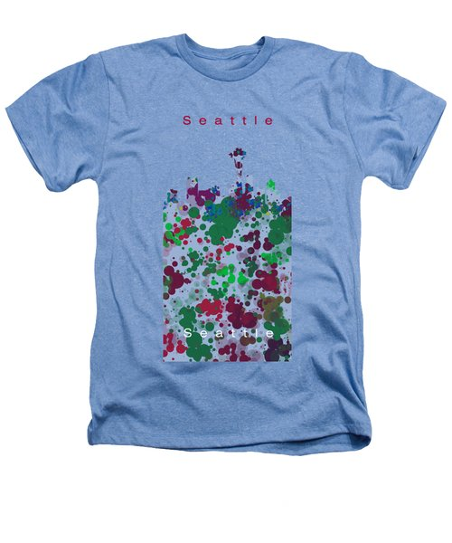 Seattle Skyline .3 Heathers T-Shirt by Alberto RuiZ