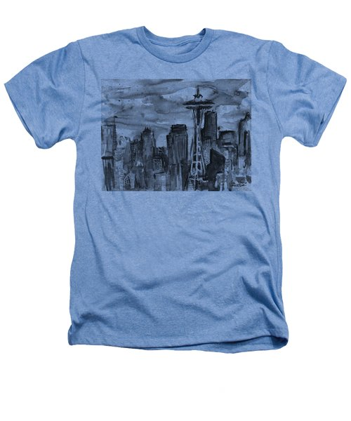 Seattle Skyline Space Needle Heathers T-Shirt