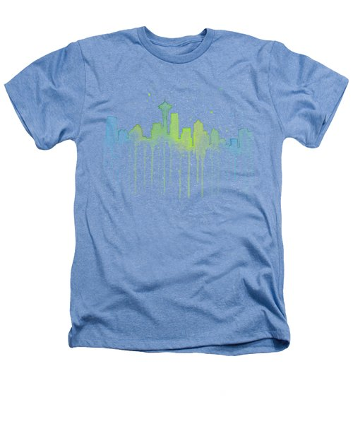 Seattle Skyline Watercolor  Heathers T-Shirt