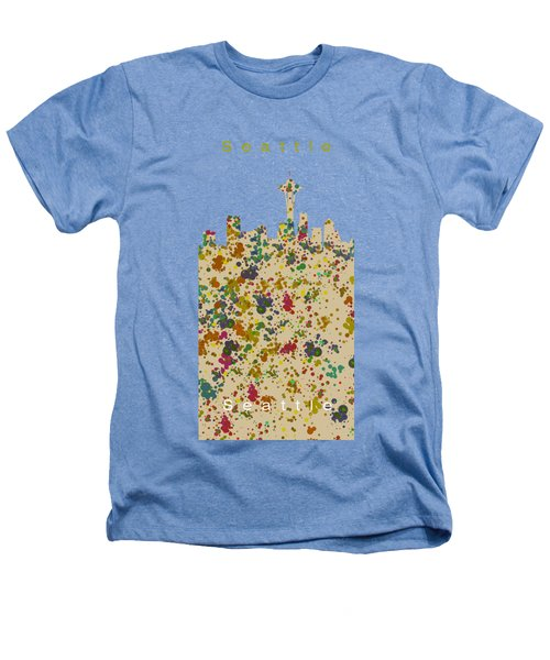 Seattle Skyline.2 Heathers T-Shirt