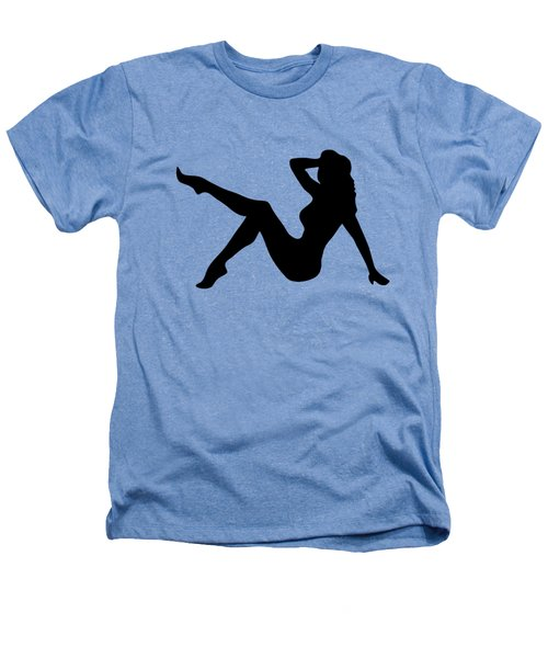Sexy Trucker Girl Tee Heathers T-Shirt by Edward Fielding