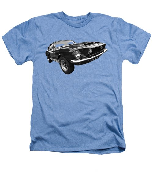 Shelby Gt500kr 1968 In Black And White Heathers T-Shirt by Gill Billington