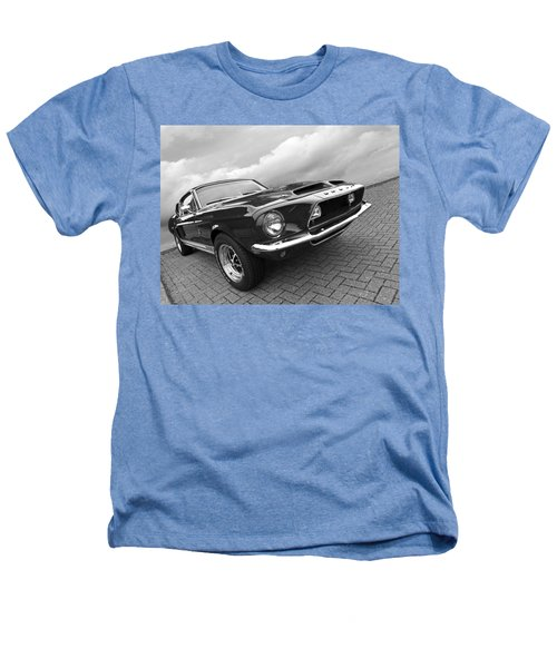 Shelby Gt500kr 1968 In Black And White Heathers T-Shirt