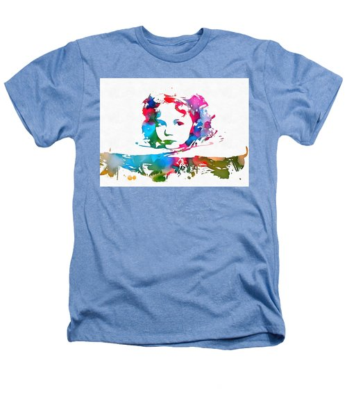 Shirley Temple Watercolor Paint Splatter Heathers T-Shirt by Dan Sproul