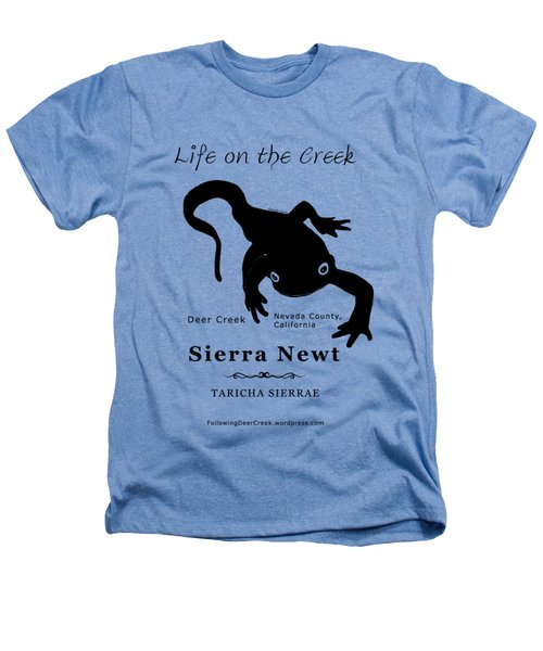Sierra Newt - Black Heathers T-Shirt by Lisa Redfern
