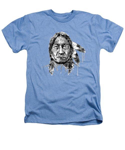 Sitting Bull Black And White Heathers T-Shirt