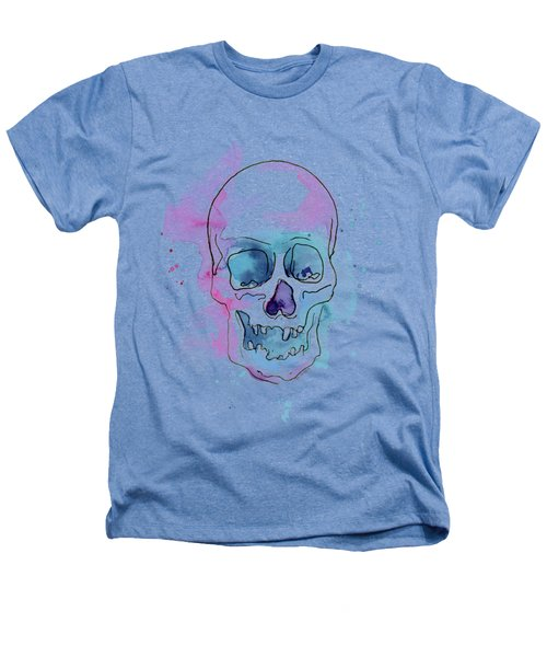 Skull Watercolor Abstract Heathers T-Shirt