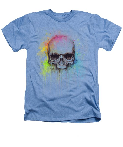 Skull Watercolor Painting Heathers T-Shirt
