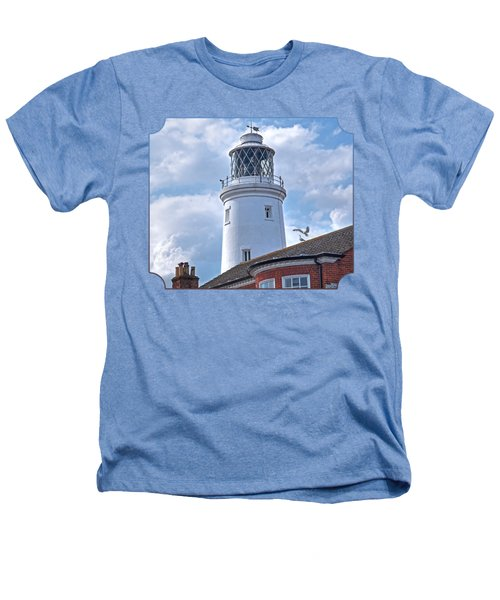 Sky High - Southwold Lighthouse Heathers T-Shirt by Gill Billington