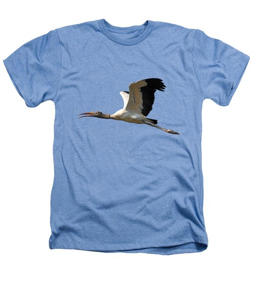 Sky Stork Digital Art .png Heathers T-Shirt by Al Powell Photography USA