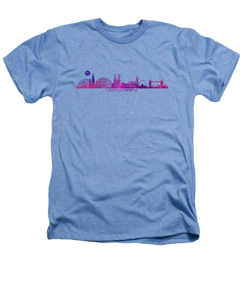 skyline city London purple Heathers T-Shirt by Justyna JBJart