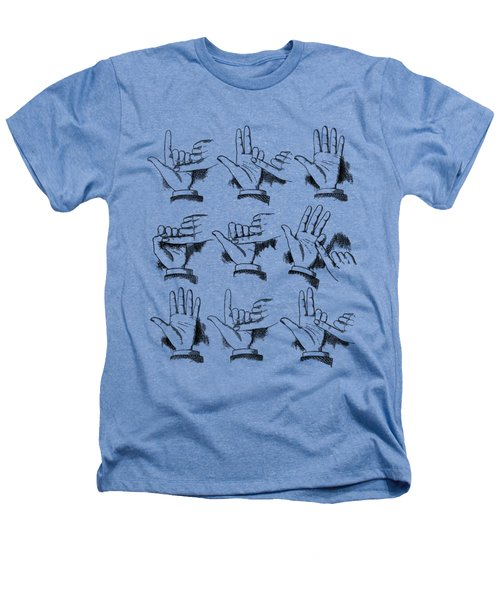 Slight Of Hand Heathers T-Shirt by Edward Fielding
