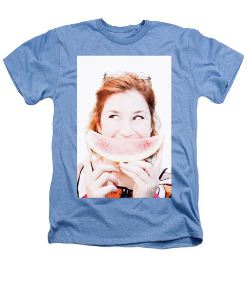 Smiling Summer Snack Heathers T-Shirt by Jorgo Photography - Wall Art Gallery