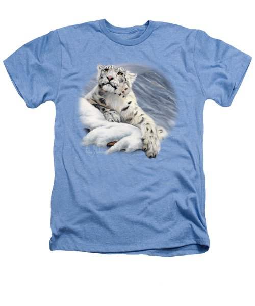Snow Leopard Heathers T-Shirt by Lucie Bilodeau