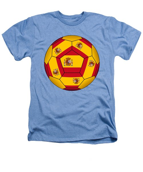 Soccer Ball With Spanish Flag Heathers T-Shirt