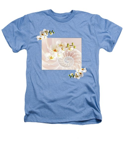 Soft Pink Fusion Heathers T-Shirt by Gill Billington