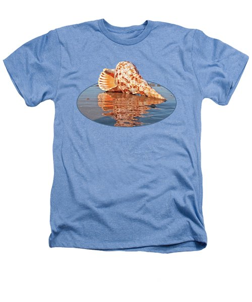 Sounds Of The Ocean - Trumpet Triton Seashell Heathers T-Shirt