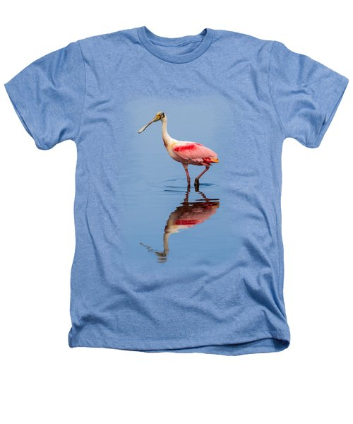 Spoonbill 3 Heathers T-Shirt by John M Bailey