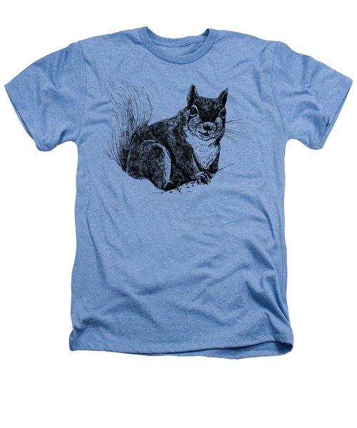 Squirrel Drawing Heathers T-Shirt by Katerina Kirilova