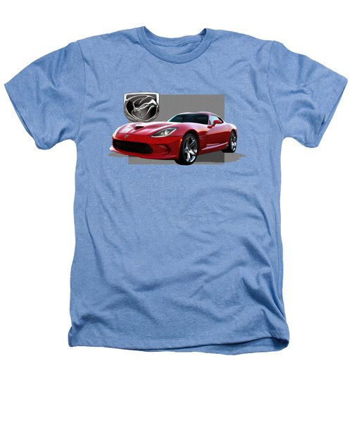 S R T  Viper With  3 D  Badge  Heathers T-Shirt