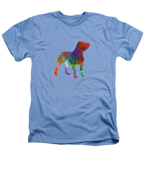 Staffordshire Bull Terrier In Watercolor Heathers T-Shirt by Pablo Romero
