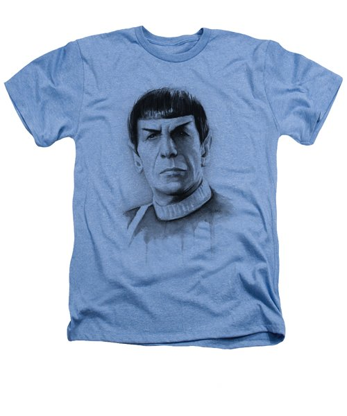 Star Trek Spock Portrait Heathers T-Shirt by Olga Shvartsur