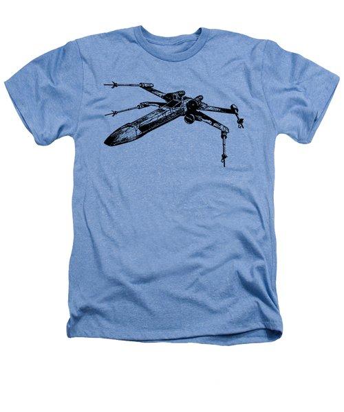 Star Wars T-65 X-wing Starfighter Tee Heathers T-Shirt by Emf